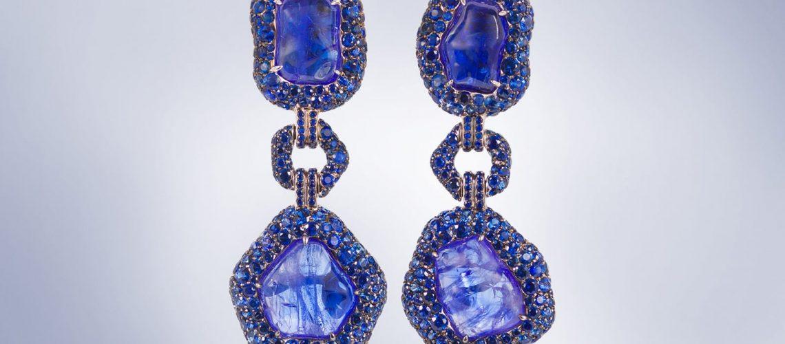 Brisbane Jewellery photography- blue earrings